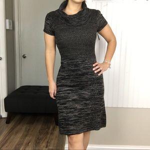 Calvin Klein Cowl Neck Marled Sweater Dress
